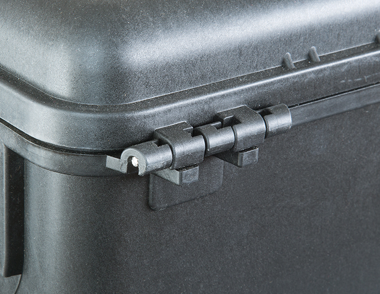 Steel pin reinforced hinges